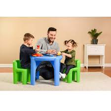 Little Tikes Bright N Bold Table & Chairs, Green/Blue Vintage Little Tikes Kids Children Size White Blue Table Set And Chairs Classic Creative Home Easy Store Jr Play With Umbrella Bluegreen Details About Red W 2 Chunky Garden And Multiple Colors Big Siriu Solid Wood Fniture Chair Kidkraft T Robust Large Pnic Also Little Tikes Desk Buyflagyl Diy Table Chairs We Used Krylon Fusion Walmart Bright N Bold