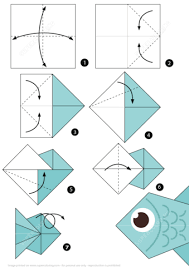 Click To See Printable Version Of How Make An Origami Fish Step By Instructions Categories Paper Folding