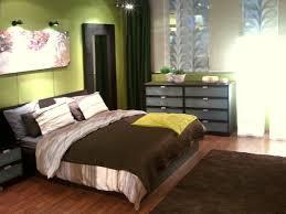 schlafzimmer farbe grün braun