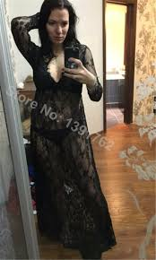 lace deep v neck transperant white black maternity long dress