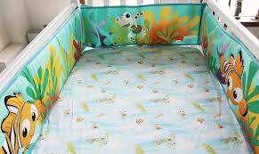 8 pieces crib baby bedding set finding nemo baby nursery cot ropa