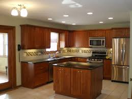 Galley Kitchen Track Lighting Ideas by Enchanting Pictures Of Remodeled Kitchens With Oak Cabinets Images