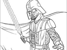 Darth Vader And Laser Sword Coloring Pages Hellokidscom