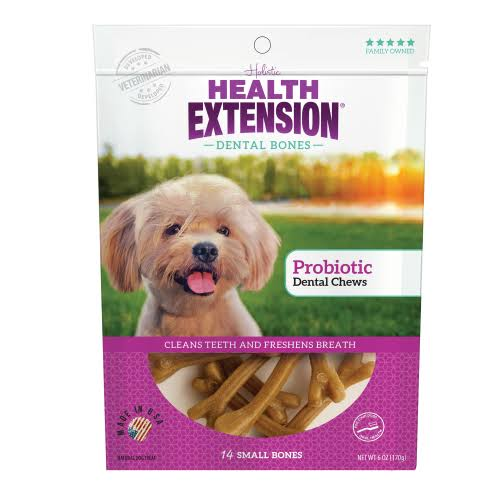 Health Extension Probiotic Dental Bones Dog Treats, Small