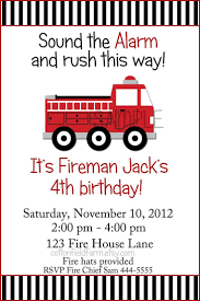 100 Fire Truck Birthday Party Invitations Little Red Invitation C353A Digital