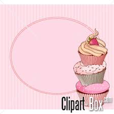 Birthday cupcake clipart background design
