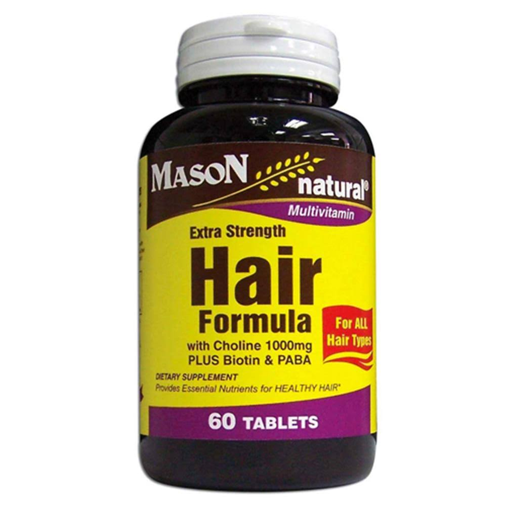 Mason Natural Extra Strength Hair Formula Supplement - 60 Tablets