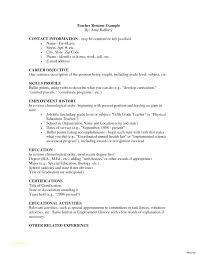 Resume Example For Teacher Samples And Examples Kindergarten Business