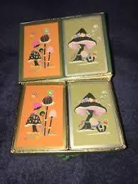 deck pinochle 4 player congress mid century deck pinochle cards mushrooms