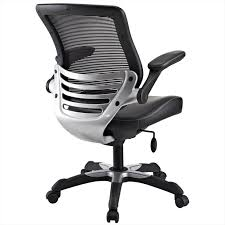 edge vinyl office chair in black lexmod