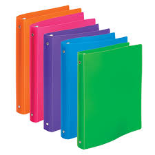 Decorative 3 Ring Binders by Bulk Brightly Colored Flexible Poly 3 Ring Binders 1
