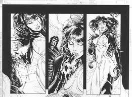 Vampirella Lady Death Harris Page 11 Detail By