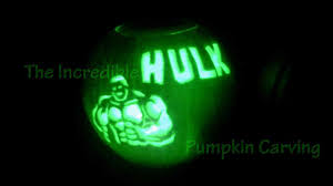 Pumpkin Faces To Carve by The Incredible Hulk Pumpkin Carving Youtube