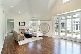 fototapete wohnzimmer mit panoramafenster
