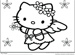Coloring Pages Christmas Kitten Stock Hello Kitty Printable Most Helpful Free Sheets Online