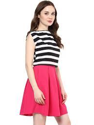 roving mode women u0027s box pleat mini skirt pink