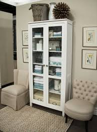 Bookcase with glass doors ikea white wood linen cabinet linen