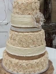 Rustic Wedding Cake Burlap Flower Farmhouse Southern Barn