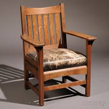 Charles Stickley Rocking Chair by L U0026 J G Stickley Armchair Sale Number 2661b Lot Number 291