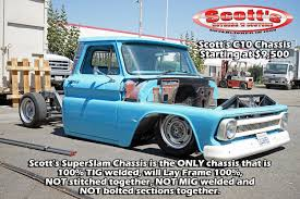 100 Custom C10 Trucks Scottshotrods Scotts Hotrods 19631987 Chevy GMC Chassis