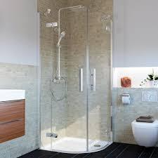 glas runddusche eck duschkabine viertelkreis 2 türen 4 teilig h 200 cm