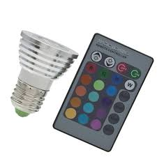 5w e27 multi color change rgb led light bulb l with remote