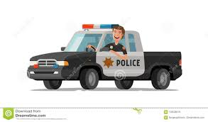 Happy Sheriff Rides In Car. Police Pickup Truck. Cartoon Vector ... Lego Police Pickup Truck Tutorial Youtube Italian With The Big Written And Blue Sirene Marshfield Two Injured In Cruiser Crash Fast Response Vehicle Wikipedia Largo Undcover Ford Bible Found Pickup Truck Stolen From Ram Factory Michigan As Lavallette Department To Try Trucks New Suvs Does It Get More America Than A Car Offers New F150 For Police Duty Niles Add Fleet But Some Question Its Pur