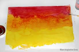Watercolor Sunset Color Mixing Craft For Kids
