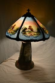 Duffner And Kimberly Lamps by 42 Best Reverse Painted Images On Pinterest Antique Lamps Glass
