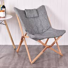 Giantex Home Outdoor Folding Butterfly Chair Seat Wood Frame ...