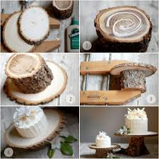 DIY Rustic Wedding Cake Stand Project From OnceWed