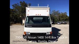 2004 UD Nissan Diesel 1400 14 Ft Box Truck For Sale, Tampa ... Trucks For Sale Tampa Nissan Frontier Titan Food Truck Sale Craigslist Google Search Mobile Love Luxury Auto Mall Used Cars Fl Dealer Built Food Truck For Bay 2010 Freightliner Columbia Sleeper Semi Florida Unforgettable Cupcakes Area Fleet Vehicles Afetrucks Best Of Toyota Tundra In 7th And Pattison 1229 2006 Toyota Tacoma Autohouse Llc
