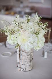 20 Rustic Wedding Centerpieces With Bark Container