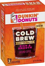 Pumpkin Iced Coffee Dunkin Donuts by Amazon Com Dunkin U0027 Donuts Cold Brew Coffee Packs Smooth U0026 Rich