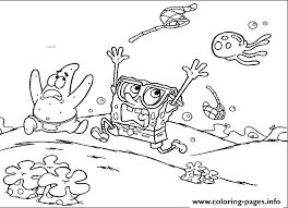 Patrick And Spongebob Afraid Coloring Page877f Pages