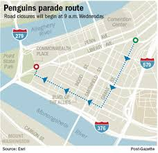 West Chester Halloween Parade Route by Party Hard Penguins Parade Through Pittsburgh Pittsburgh Post