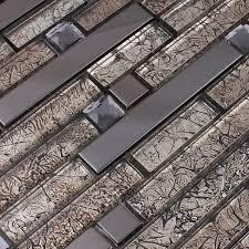 wholesale metallic backsplash tiles brown 304 stainless steel