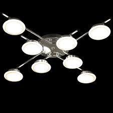 design led deckenle 8 falmmig deckenleuchte wohnzimmer acryl glas