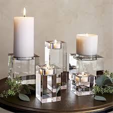 677 7 Sizes Modern Elegant Crystal Candle Holders