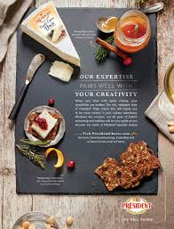 ik饌 cuisine catalogue président cheese print ad portfolio président cheese