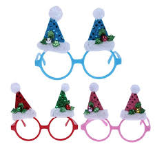 New Christmas Party Funny Shining Cap Glasses Xmas Tree Decorations Accessories Supplies Eye Wear Frame