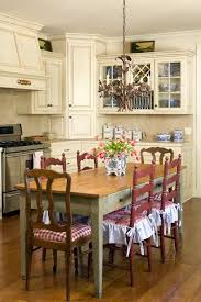 Eat In Kitchen Red Ladder Back Chairs Country Cottage The City