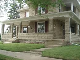 100 Block House Design ClassicRockFaceRusticatedConcreteSears