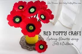 Spring Flowers Red Poppy Felt Craft
