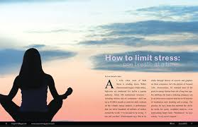 Nameplate Cover And Feature Spread Design For Inspire Magazine The Focuses On Relaxation Stress Relief Yoga Meditation