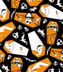 Oogie Boogie Halloween Stencil by Halloween Cotton Fabric 43