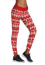 Womens Christmas Leggings Elements Of Festival Digital Print Pants