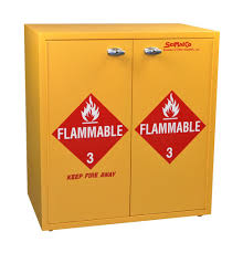 Flammable Liquid Storage Cabinet Grounding by Standard Flammable Storage Cabinet Selfclosing Doors Yellow 30