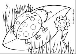 Excellent Printable Spring Coloring Pages Kids With Color And Pdf