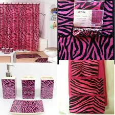 22pc bath accessories set pink zebra animal print bathroom rugs